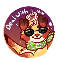 Deal with it button by Feniick