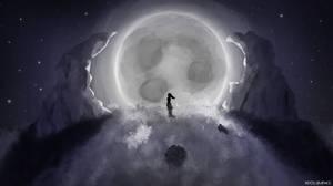 Moon and Girl
