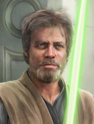 Luke Skywalker Jedi Master. by Jedimasteradi
