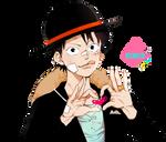 render [2] One Piece   Luffy love