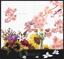 Pack Flowers2 12 Png by Hanyu-Hi
