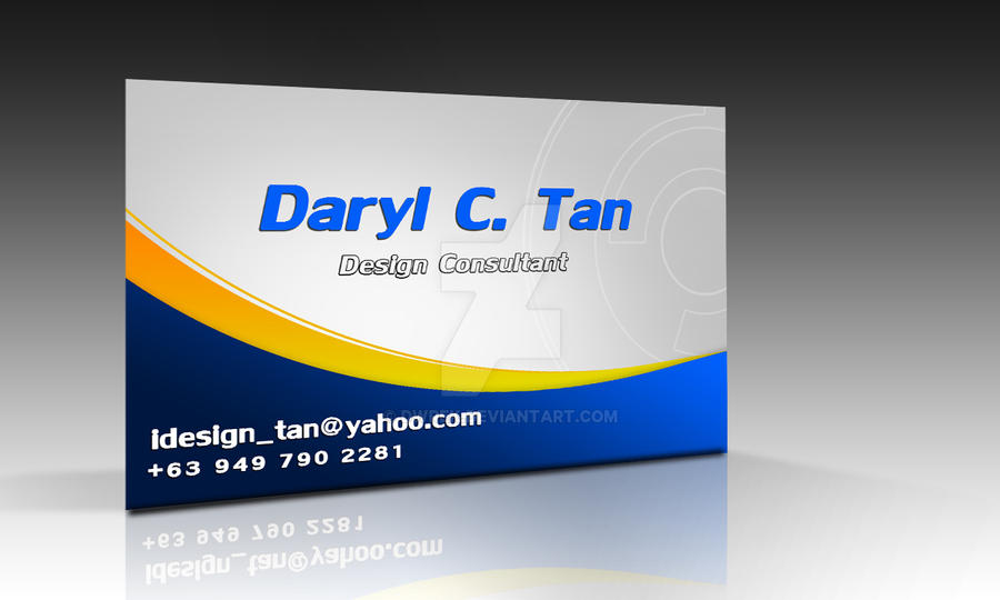 Business Card Sample By Dwrek ...