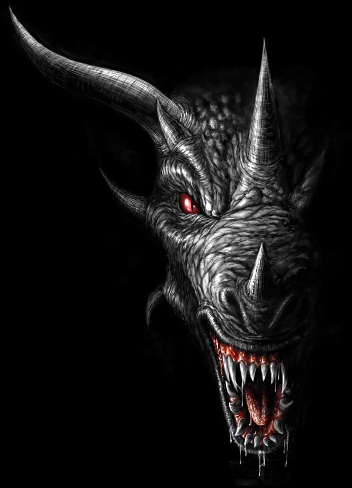 Shadow Dragon Head By AndrewDobell