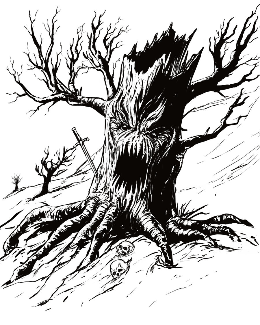 Gothic Tree Drawings Viewing Gallery
