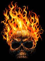 Flamin Skull by AndrewDobell