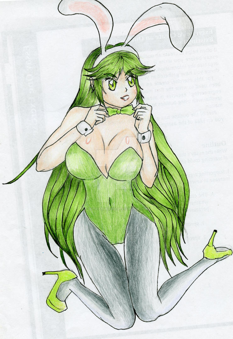 Lady Palutena: The Sexy Bunny 5 by CutieAngel999