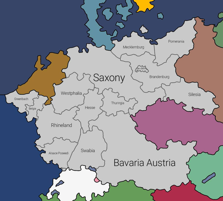 Country Of Germany Map.New Germany Map My Fictive Country By Newgermanmapper2019 On