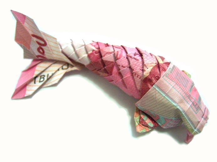 KOI FISH Diagram (4 of 5) Money Origami Dollar Bill Art | Origami ... | 519x693