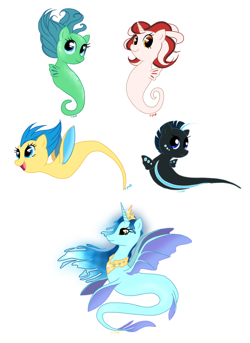 Seapony types by C-Puff