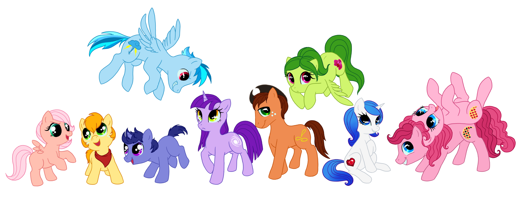 OC Appreciation 6: mane 6 kids by C-Puff