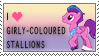 Girly Stallions stamp by C-Puff