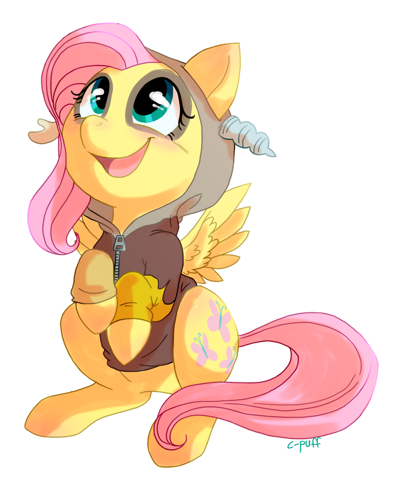 discorded_fluttershy_by_c_puff-d6tlupt.p