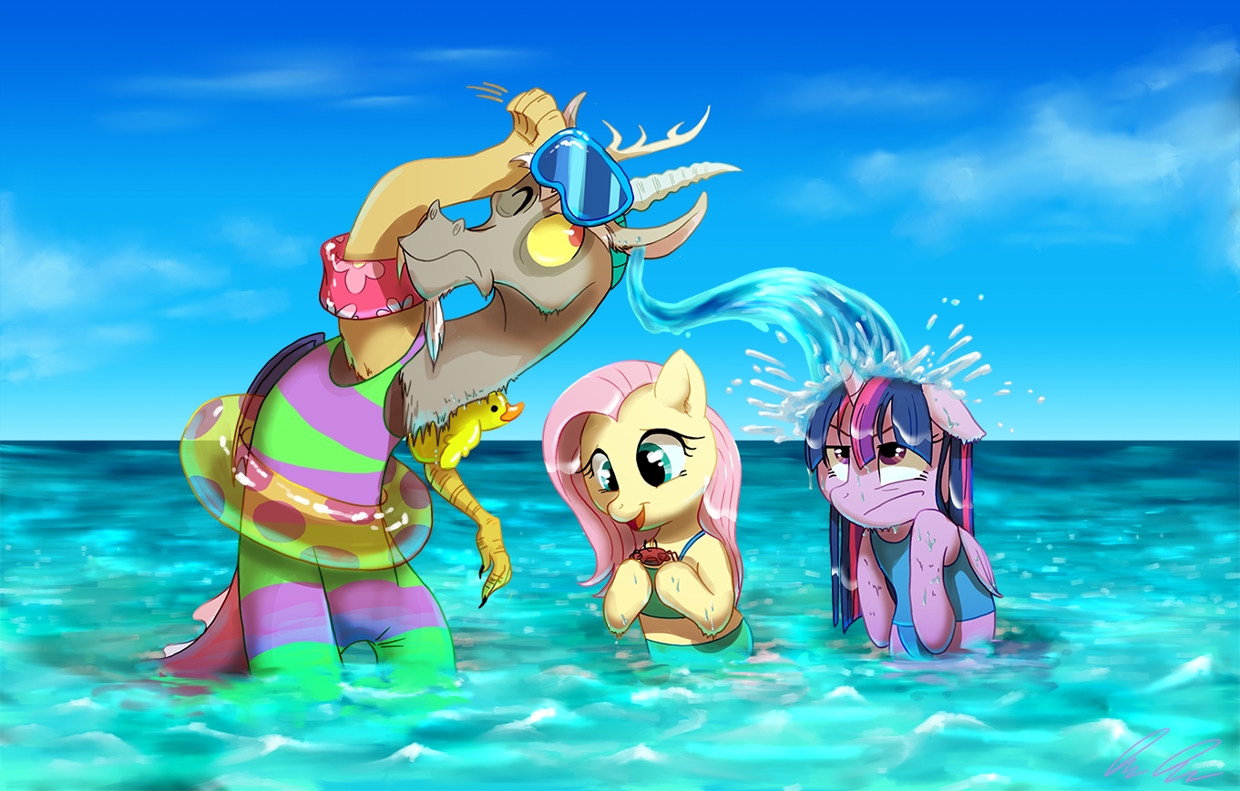 Fun at the beach by C-Puff