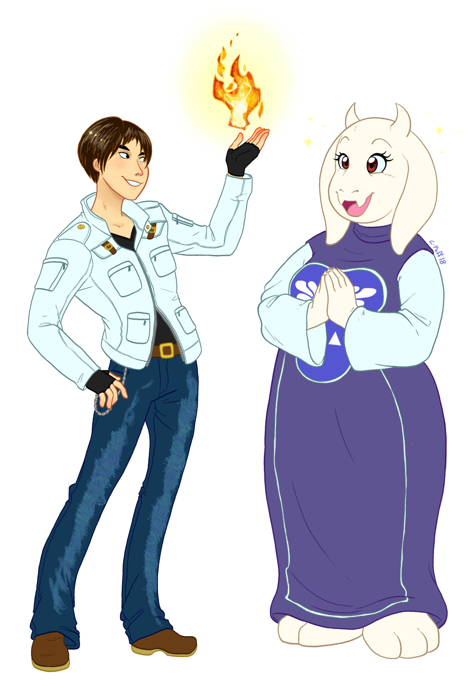 Commission: Kyo and Toriel