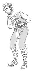 CM: Warrior Monk by C-Puff