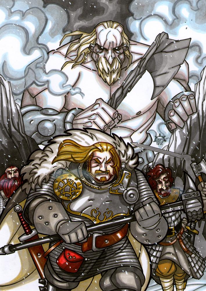 Rampaging Titan by NicolasRGiacondino
