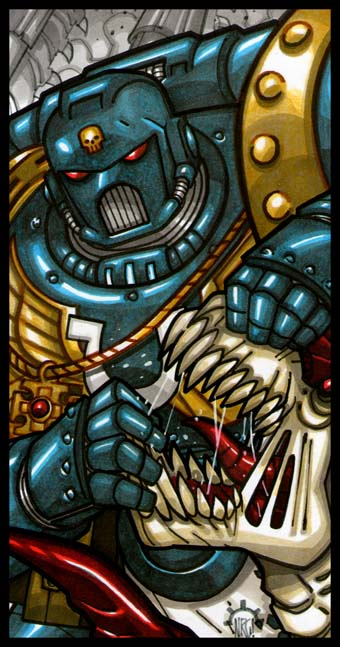 EMPEROR'S TAROT - The Space Marine by Aerion-the-Faithful