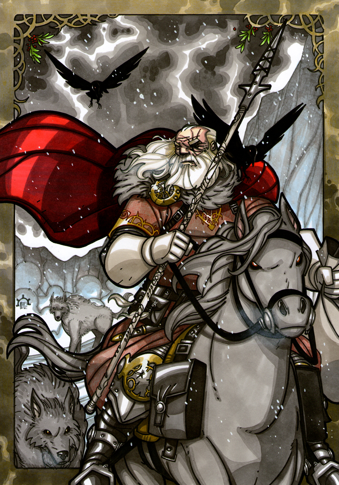 Odin Gift-giver by NicolasRGiacondino on DeviantArt