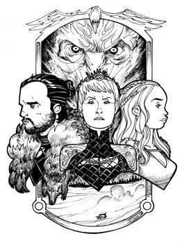 Winter is here - Black and White