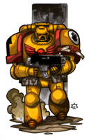 MiniCharacters - Imperial Fist by NicolasRGiacondino