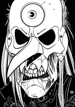 Inktober 31 - Mask