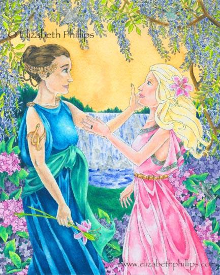 Demeter and Persephone 1 by ElizabethPhillips on DeviantArt