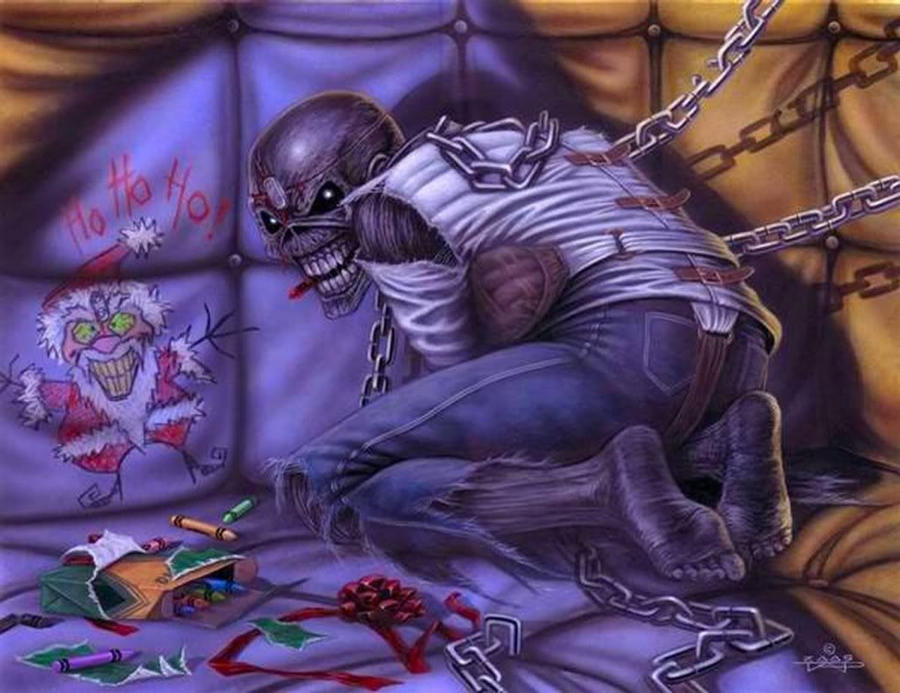Iron Maiden Christmas Card 1 by taplegion on DeviantArt Iron Maiden Trooper Wallpaper