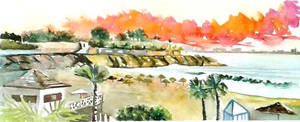 Playa Del Duque - Tenerife - Original Watercolor