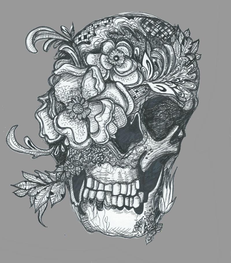 Flower Skull By Katikha On DeviantArt