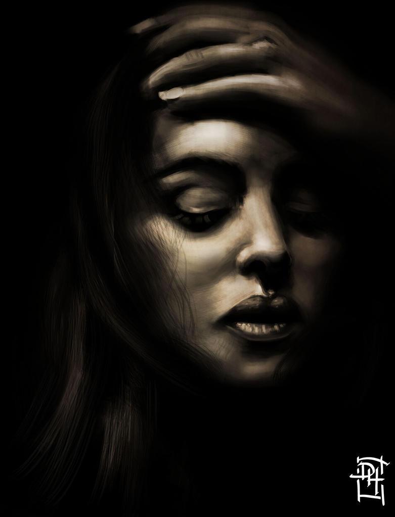 Monica Bellucci (Chiaroscuro, tones study) by Domax-art
