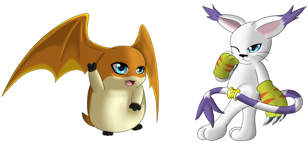 Gatomon And Patamon Patamon and Gat...
