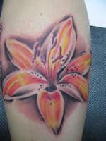 flower tattoo by nirpa