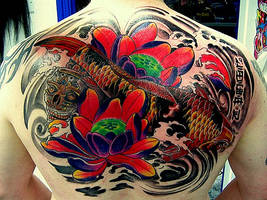 koi back piece. by nirpa