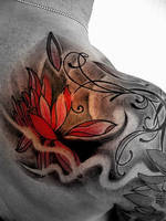freehand flower tribal by nirpa