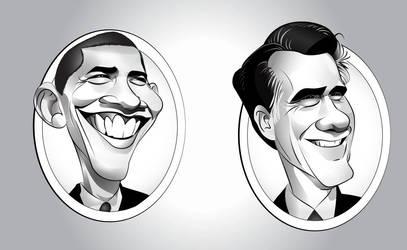 Obama  Romney by codygarciaart