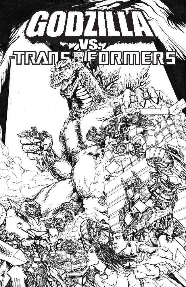 Godzilla vs. Transformers by glovestudios