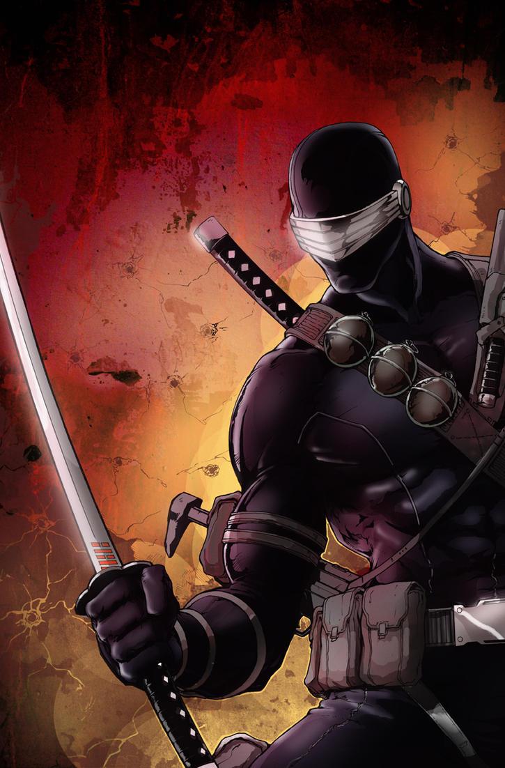 G.I.Joe Snake Eyes 12 Cover by glovestudios