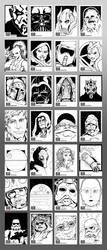 Star Wars Galaxy 7 Sketch Cards by glovestudios
