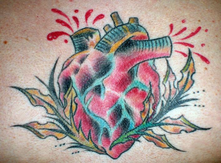 Heart Tattoo - chest tattoo