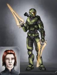 Spartan Sonia (Commission) by The-Chronothaur