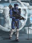 Spartan-B278 aka Blaze Blitz (Commission)