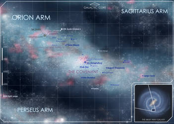 Halo: Orion Arm Star Map by The-Chronothaur