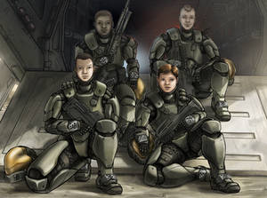 Dagger Team (Commission) by The-Chronothaur