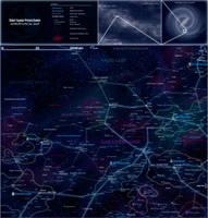 Siakar Expanse astropolitical map by The-Chronothaur