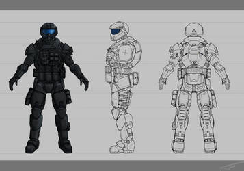 Spectre armor design sheet (Commission)
