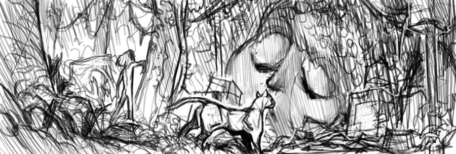 Jungle Book sketch by cbiv85