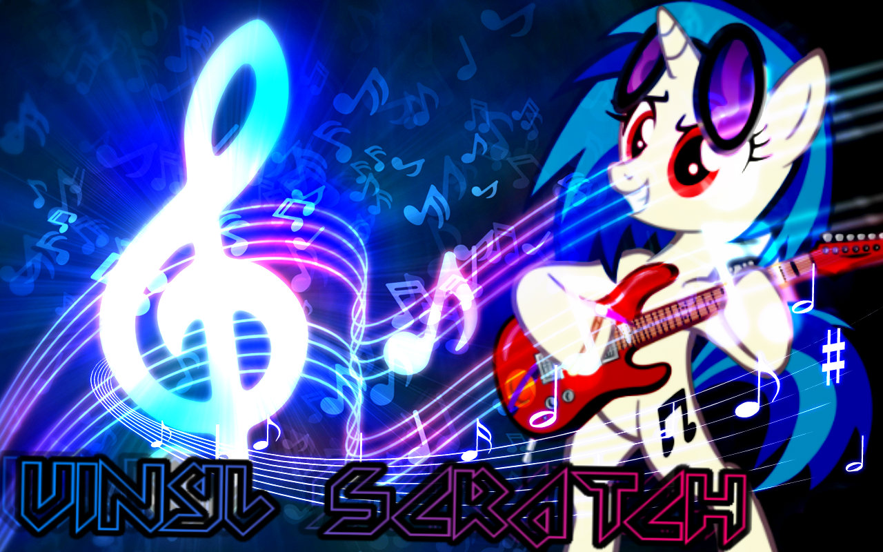 Vinyl Scratch Wallpaper By Nazizombieskiller On Deviantart