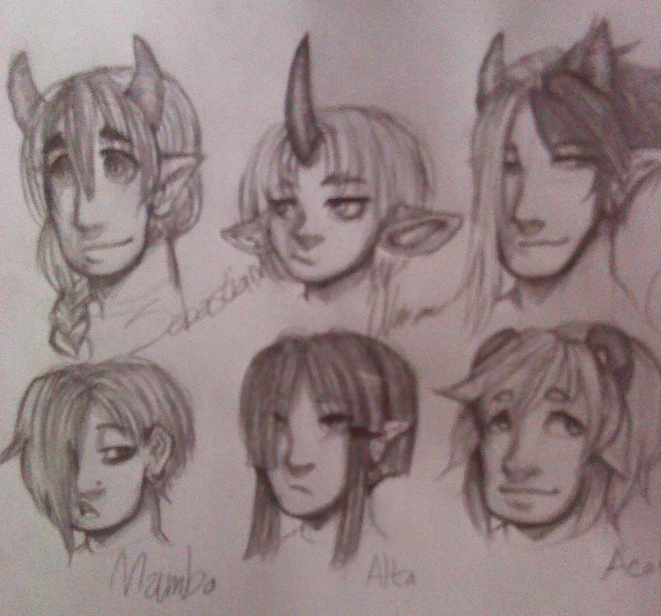 Faces by KuroSaburo