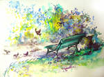 The birds's bench...