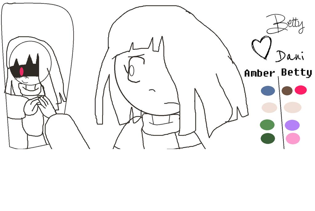 how to draw betty glitchtale